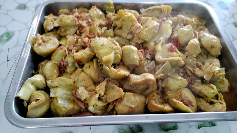 Alcachofas con jamón, comidas para lleva en Caniles con La Cocina de Inma