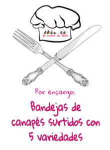 Canapés variados por encargo comidas para llevar en Caniles