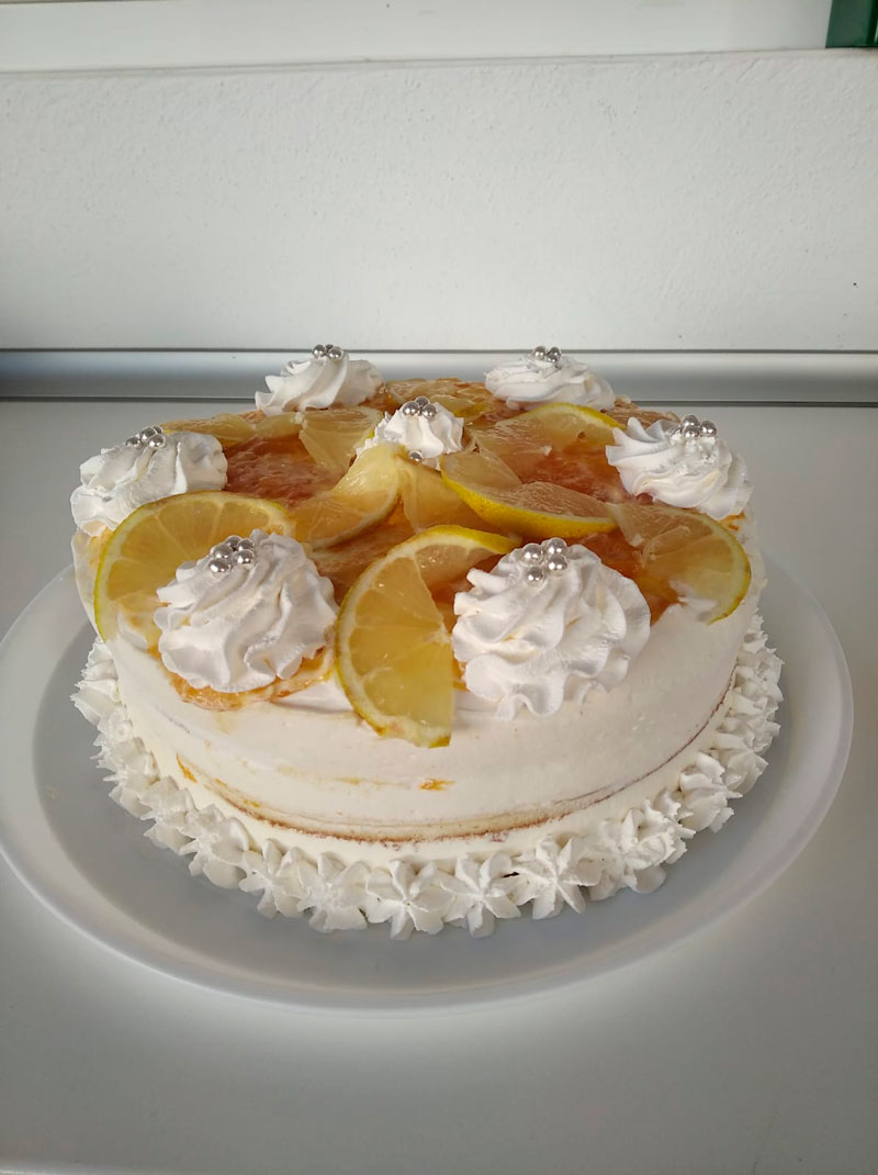 Tarta de limón casera por encargo, comidas para llevar Caniles con La Cocina de Inma